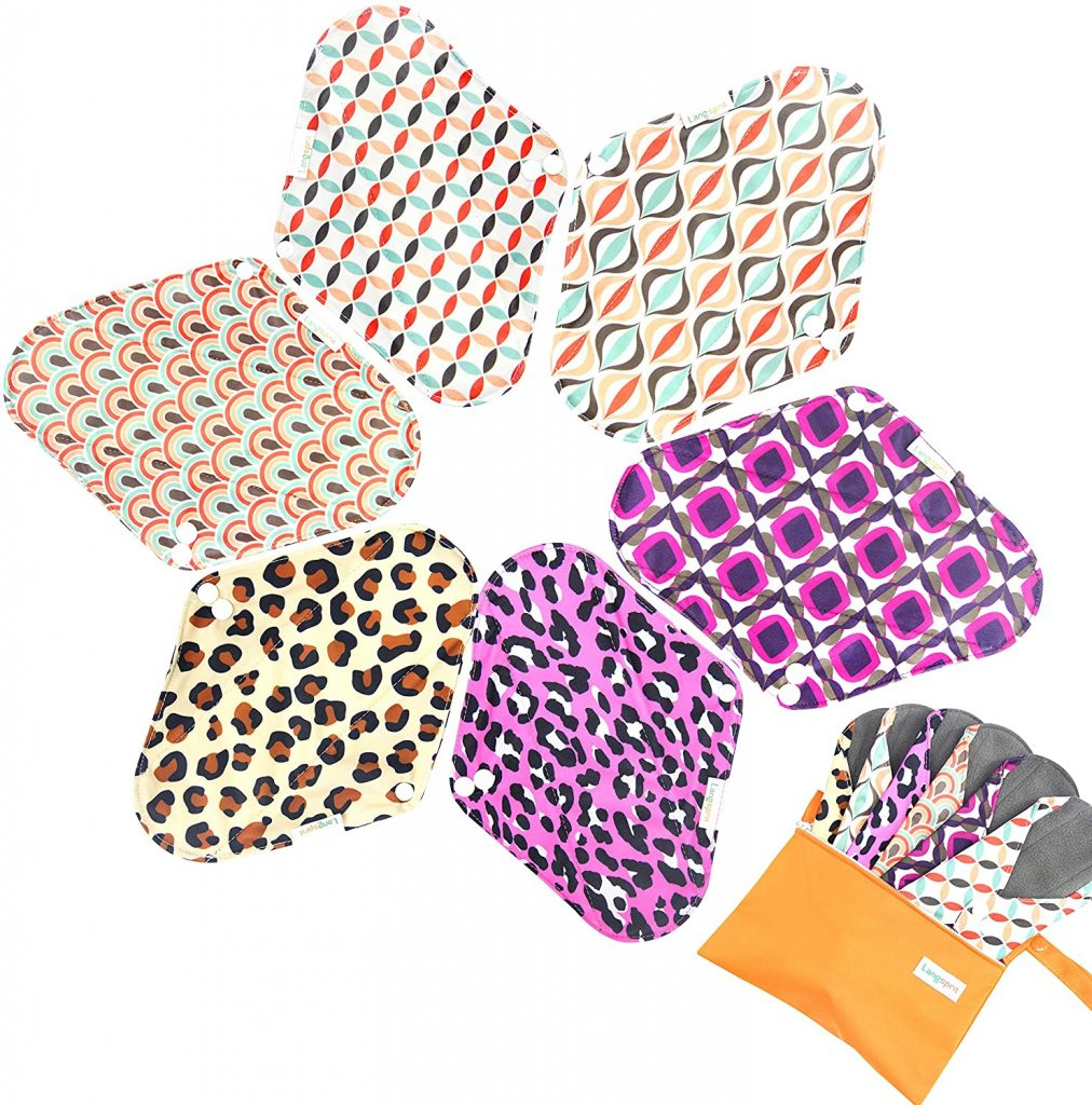 Langsprit washable Bamboo Reusable Cloth Menstrual Pads