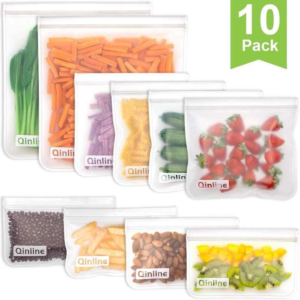 Qinline Reusable Silicone Sandwich Bags min