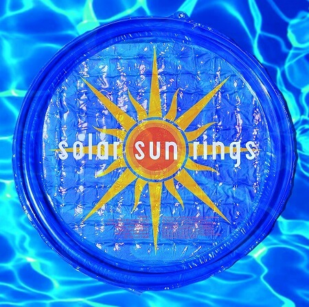 Solar Sun Ring for Pool with Sunburst Design
