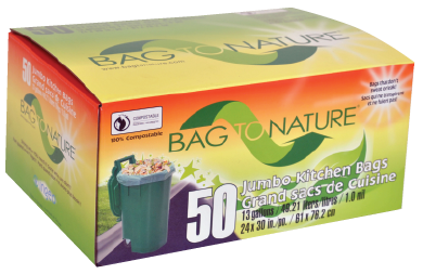 BAG To NATURE Compostable Tall Kitchen Bags