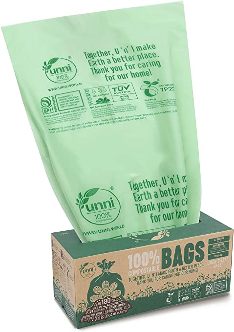 UNNI Eco Friendly Compostable Trash Bags