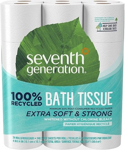 Seventh Generation White Toilet Paper min