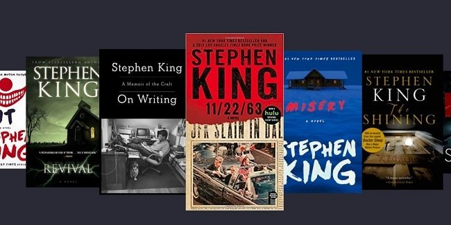 Stephen King books min