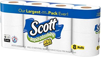 Scott Rapid Dissolving toilet paper